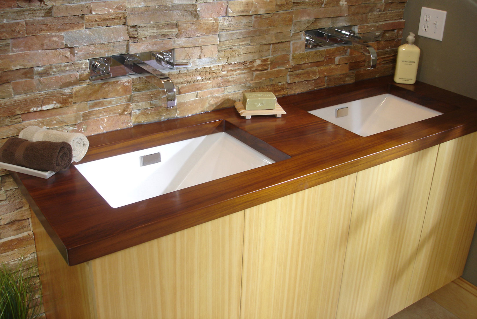 Vanity Wood Top : Raging river gallery of wood counter solutions