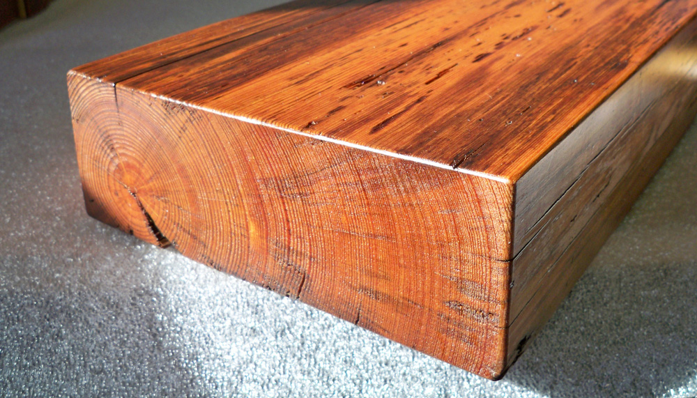 Raging river reclaimed lumber countertops for Reclaimed decking boards