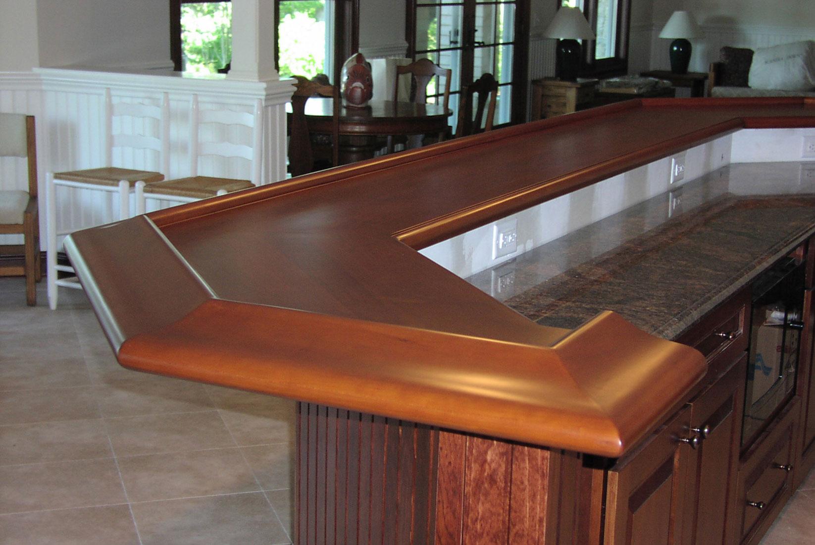 ... Walnut Countertop Cherry Bartop, Cherry Bar Rail, Custom Wood Bar ...